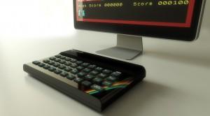 ZX Spectrum Bluetooth jugando al Manic Miner